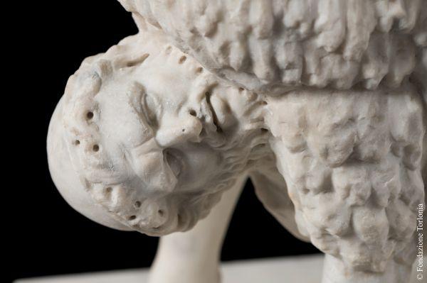 Statue of Ulysses beneath a ram