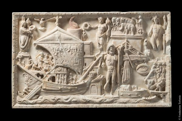 Relief of Porto Bas-relief with view of the <i>Portus Augusti</i>